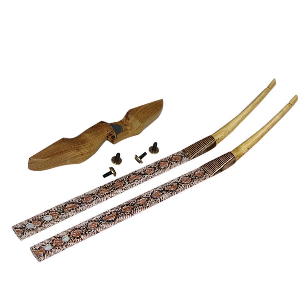 50lbs 55  años de Tiro con Arco Recurvo Arco Longbow Tiro de caza con arco de mano derecha
