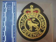 British GB UK public forces Civil Defence Corps cloth cap uniform blazer badge