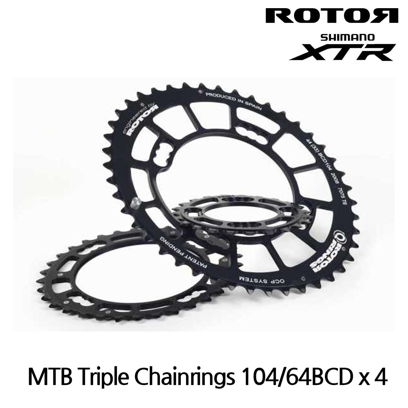 rojoor Bicicleta de montaña qrings qrings qrings platos QX3-Triple Plato Oval - 104 64BCD X 4 - 42,23T 02d080