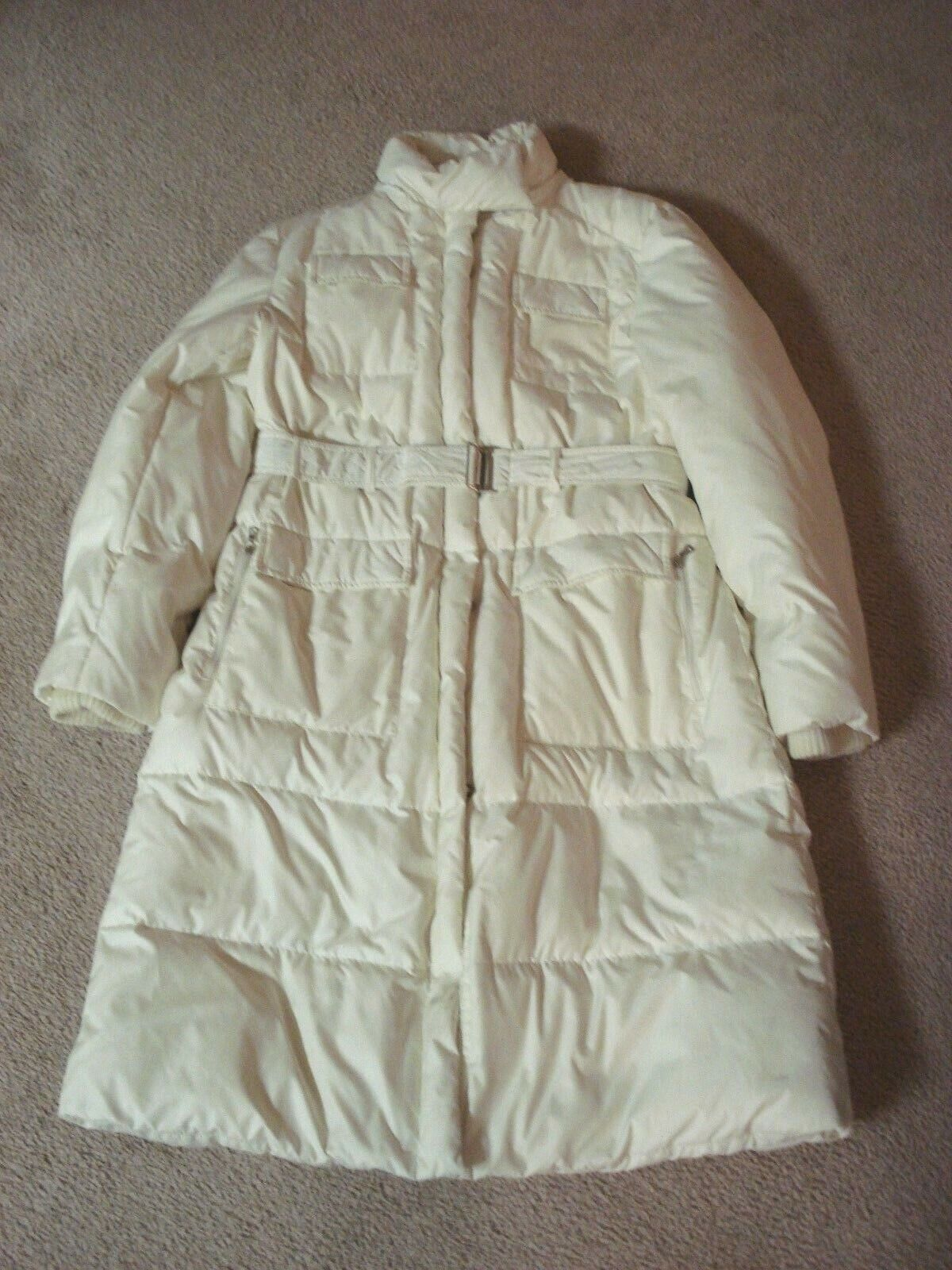 Guess Down Filled Off White Coat Women's Size Large