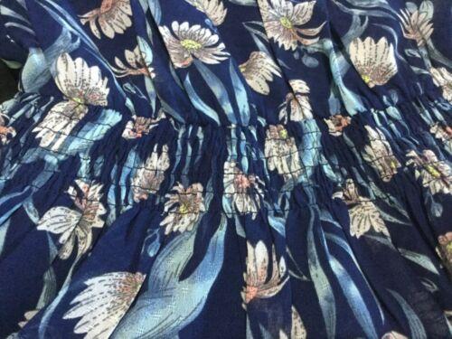 a Foxiedox Uk corte Nwt Small maniche blu 8 10 Mini abito floreale Hs768dr Ladies 6fwqw0S