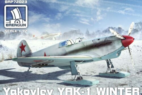 Brengun 1//72 Yakovlev Yak-1 Winter Version on Ski/'s # BRP72023