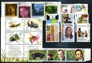 URUGUAY 2013, 12 DIFFERENT COMPLETE SETS + 1 BOOKLET MNH, VF