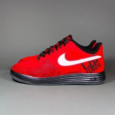 reputable site 311fb 33d92 Men Nike Lunar Force 1 Fuse City Chicago 577666 600 University Red Black