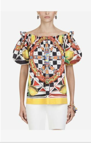 multicolor dolce and gabbana top