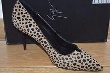 NIB GIUSEPPE ZANOTTI Womens SAVAGES Leopard Calf Hair Pumps Size 8 EUR 38