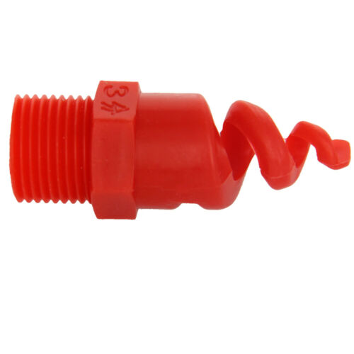 3//4 3//8BSP Male Thread PP Spiral Cone Atomized Nozzle Industrial Spray Red 1//2
