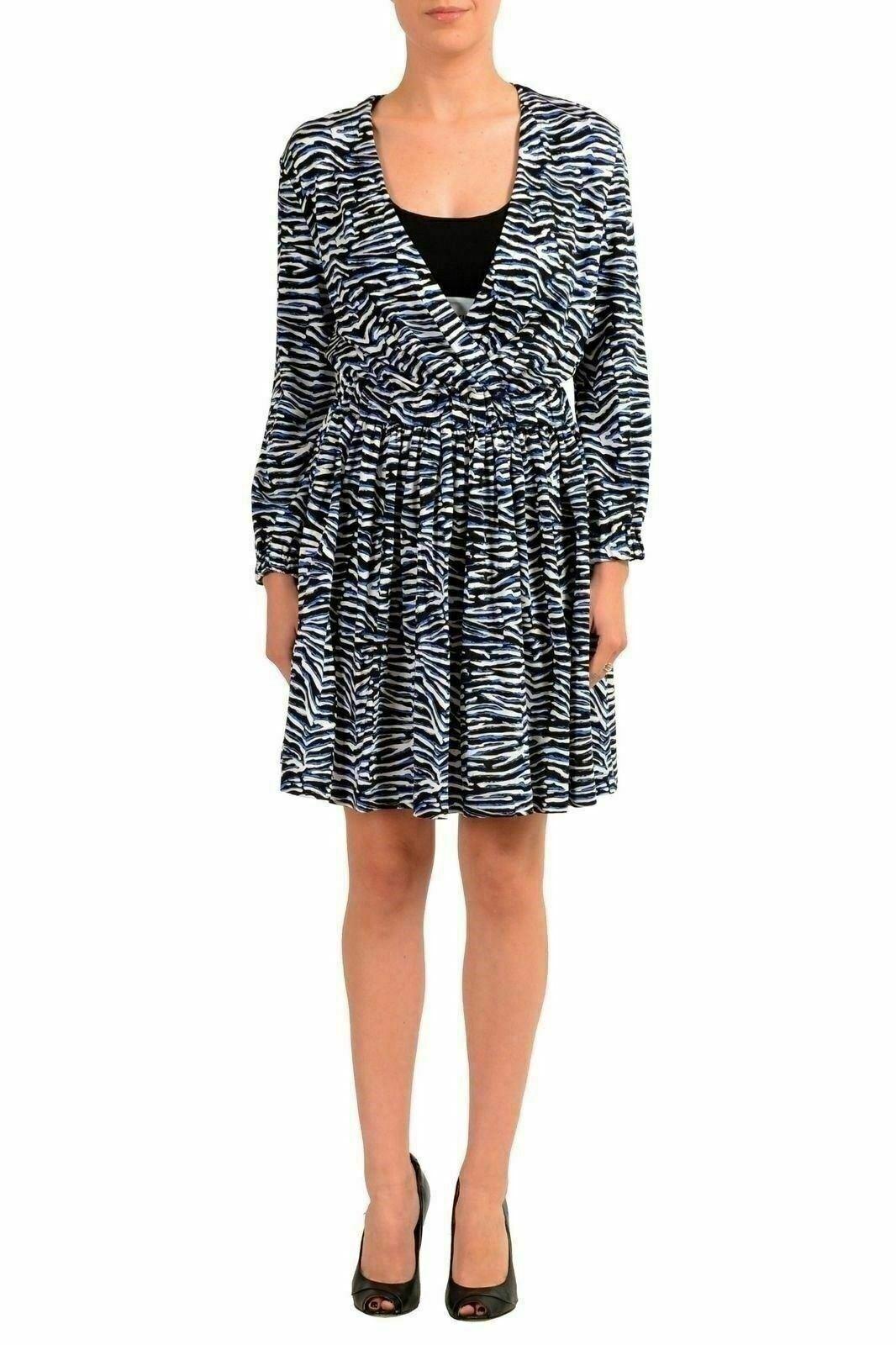Just Cavalli Woherren Patterned Long Sleeve Sheath Dress US S IT 40