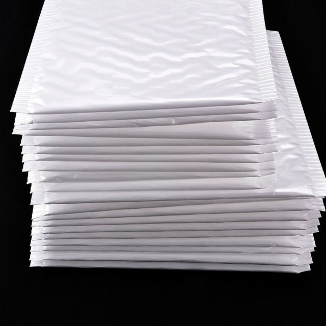 10Pc Business White Poly Bubble Mailers Padded Envelopes Shipping Bags Self Seal