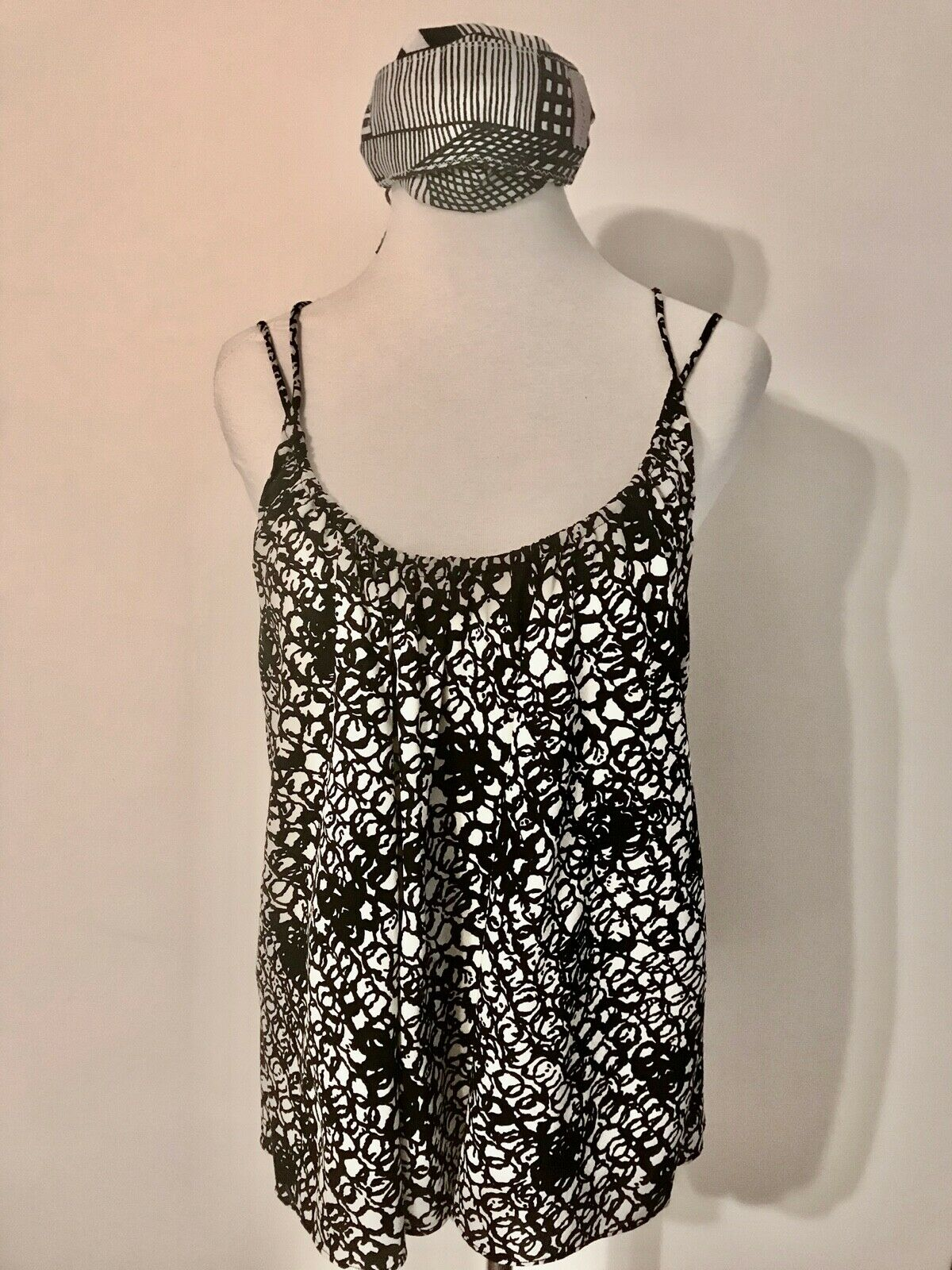 Balenciaga Black and White Silk Multi Strap Camis… - image 9
