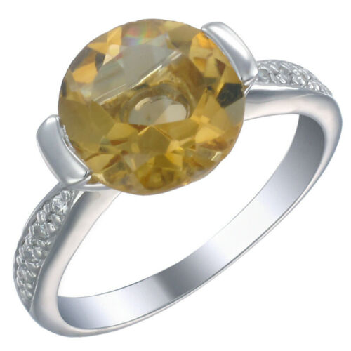 Sterling Silver Citrine Ring 3 ct en taille 7