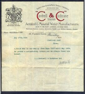 mineral water manufacturers 1938 fancy headed notepaper free uk