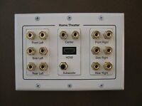 Home Theater 7.1 Surround Sound Speaker Wall Plate + Hdmi + Audio Banana 6.1 5.1