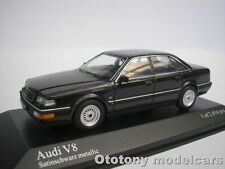 AUDI V8 1988 SATIN SCHWARZ METALLIC 1/43 MINICHAMPS 400016000   NEU