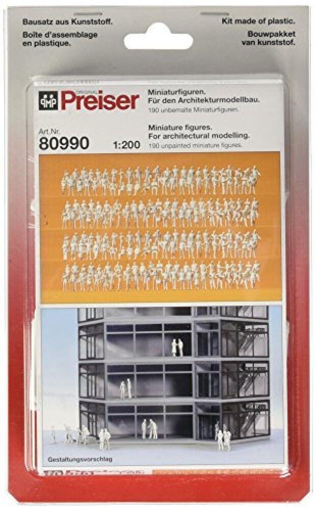 Preiser 80990 Pedestrians Assorted Unpainted Figures 1 200 Model Figure