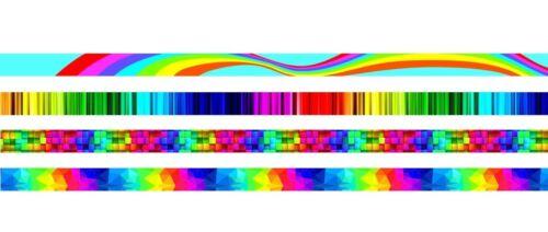 Multicolore Rainbow Unique FUNNY DIVERTENTE REGALO DI RASO CORDINO tracolla multifunzione