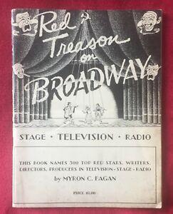 Red-traicion-en-Broadway-por-Myron-C-Fagan-1954-Raro-pubication-Comunista-Scare