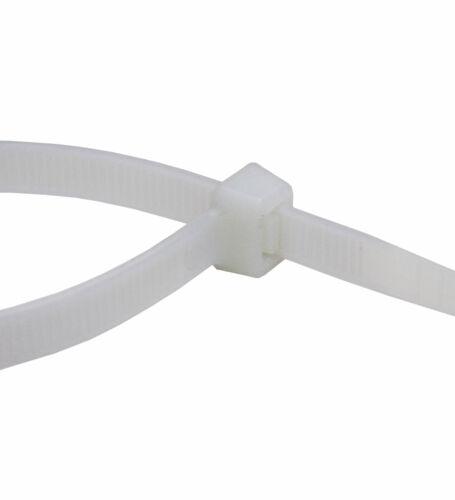 Kabelbinder UV Nylon Polyamid 6.6 Industriequalität weiß 100 mm x 2,5 mm