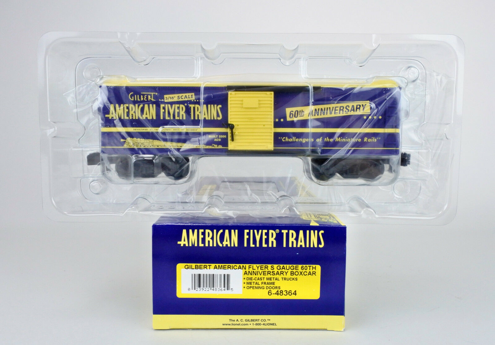 AMERICAN FLYER S SCALE 6-48364 GILBERT 60TH ANNIVERSARY BOXCAR