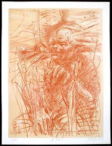 DDR-Kunst-W-Pieck-1984-Grosse-Lithogr-Frank-RUDDIGKEIT-1939-D-handsigniert