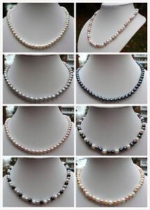A1 Lot Véritable Eau Douce Elevage Perles Bijoux Collier De Chaîne 19gv9rpr-08000048-416413481