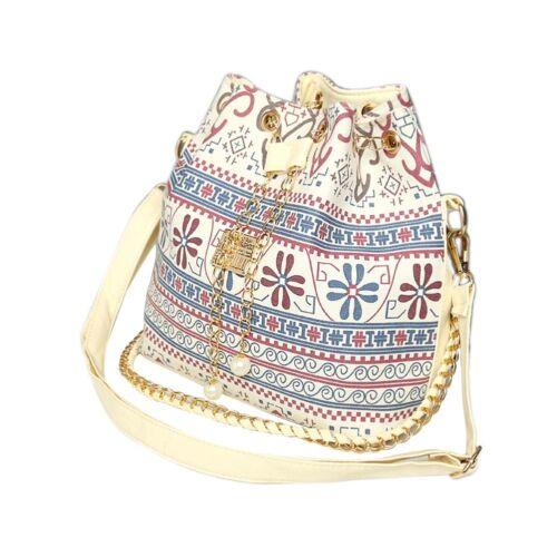 Women Handbag Canvas Tote Purse Travel Houndstooth Bucket Shopping Shoulder Bags