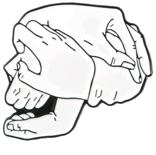 PINdignation Skull made of Hands surreal enamel Pin Badge