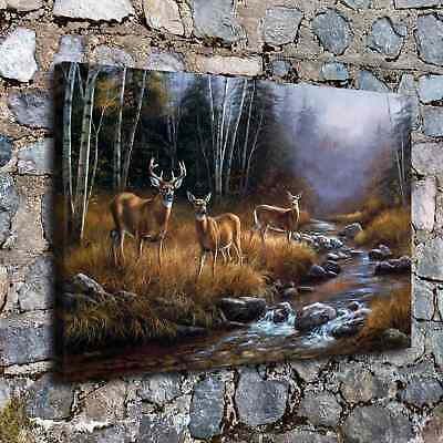 """12/""""x18/""""Wild deer Painting HD Canvas prints Painting Home Decor Picture Wall art"""