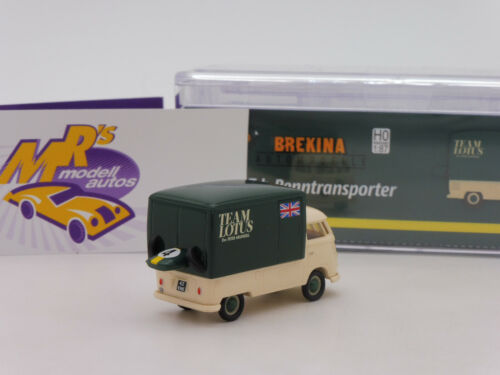 "Brekina 32456 # VW Bus T1b Renntransporter /"" Team Lotus Formel 1 GB /"" 1:87 NEU !"