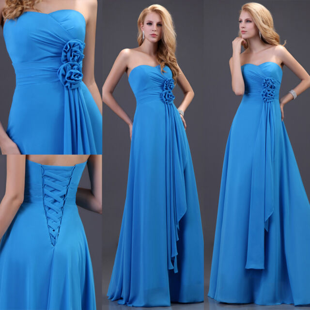 2016 CHEAP ! Long Wedding Ball Gown Evening Formal Party Prom Bridesmaid Dresses
