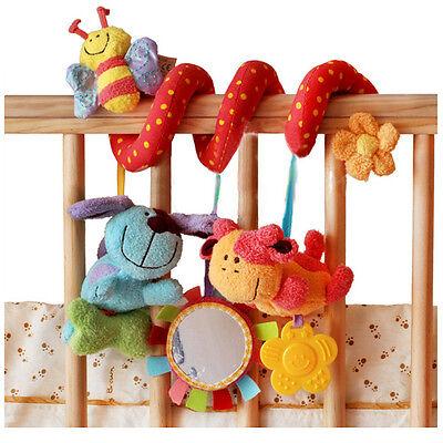2017 Multifunctional Baby Kid Car Pram Hanging Bell Bed Crib Ring Plush Toy Gift