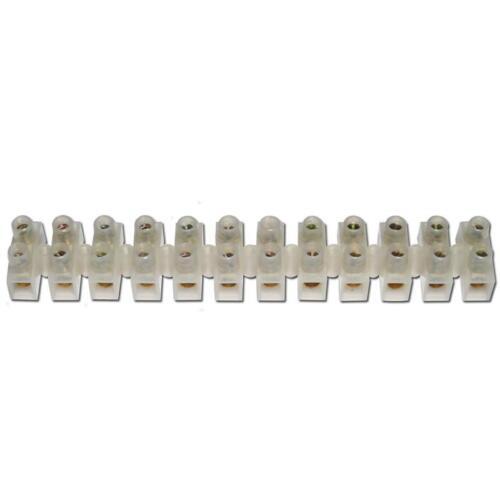 2 Riegel Lüsterklemmen à 12 Pole für 10-16mm² Lüsterklemme Verbindungsklemmen
