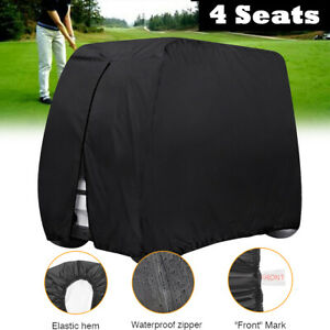 Universal-4-Seater-Golf-Buggy-Cart-Cover-Breathable-Waterproof-Anti-UV-W-Zipper