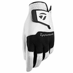 TaylorMade-Mens-Stratus-Leather-Golf-Glove-White-Medium