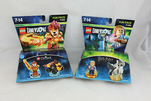 x2-LEGO-DIMENSIONS-Fun-Pack-71222-71348-harry-potter-amp-chima-NEUF