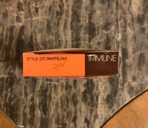 Vintage Bra Seamless Nylon Lycra 1970s White Fiberfill Adjustable Strap Sz 34A