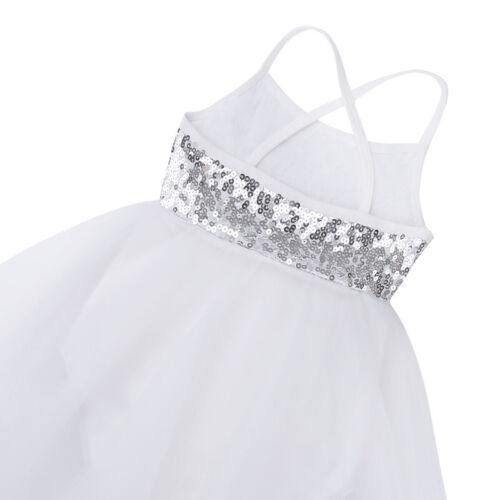 UK Girls Lyrical Ballet Dress Kids Leotard Gym Dance Wear Party Dancing Costume
