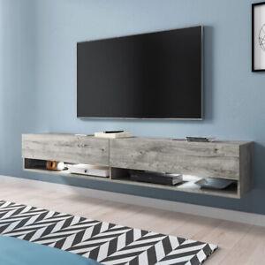 Meuble tv à suspendre et à poser WANDER 180 cm éclairage LED design moderne
