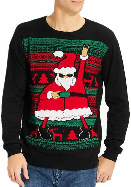 Idgreatim Women Men LED Ugly Christmas Sweaters Funny Pullover Long Sleeve Knitted Xmas Sweater Jumper S-XXL