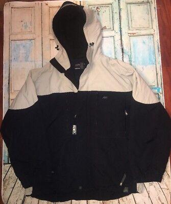 Men's Winter Jacket Size XL BLACK Fleece Lined Hood AMERICAN EAGLE OUTFITTERS