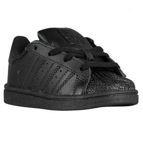 e68f73c5 Details about Adidas Superstar Infant Toddler Size Triple All Black BW1282  Shell Toes Gold k c