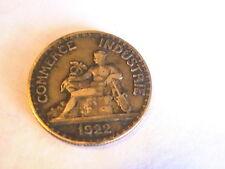 France 50 Centimes 1922 Coin - Chambres de Commerce 18mm Commerce Industrie