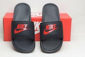 Nike-Men-039-s-Benassi-Just-Do-It-Athletic-Sandal-Slides-Black-Red-343880-060-Size-7