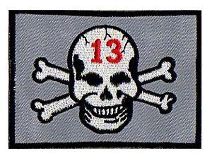 Badge-patch-ecusson-patche-Skull-13-thermo-Tete-de-mort