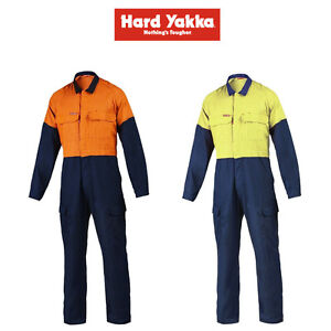 522a8c49d82f Mens Hard Yakka Protect Hi-Vis 2 Tone Tecgen Coverall Fire Safety ...