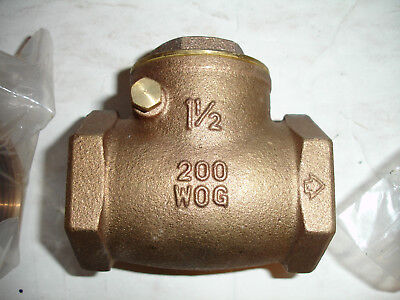 "200WOG Watts Bronze 1/"" IPS Gate Valve B-3000 Class 125S"