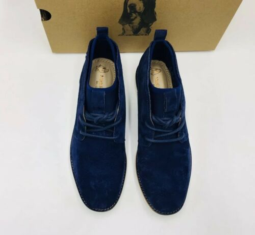 MSRP $110 Hush Puppies Women/'s Chowchow Chukka Boot Royal Navy Suede