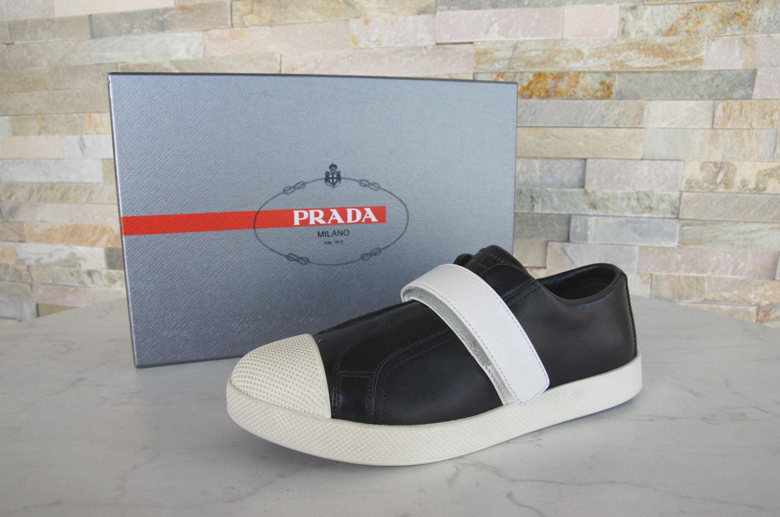 Prada Gr 3E6274 36,5 Sneakers Slipper Schuhe 3E6274 Gr schwarz Leder NEU 8e228c