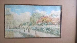 Félix de GOYON (Félix de GRAY) Rare et Belle aquarelle TUILERIES début XXe