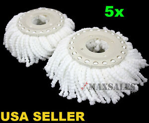 New-5PC-Replacement-Mop-Head-Refill-For-360-Magic-Spin-Mop-Long-Microfiber